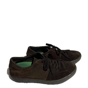 Tod's Brown Suede Lace Up Sneakers men's Sz 8